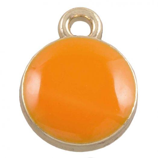 Charm Emaille  (11 x 9 mm) Orange (10 Stück)