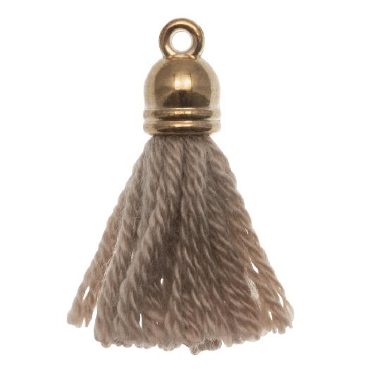 Quasten (20 mm) Cedar / Gold (5 Stück)