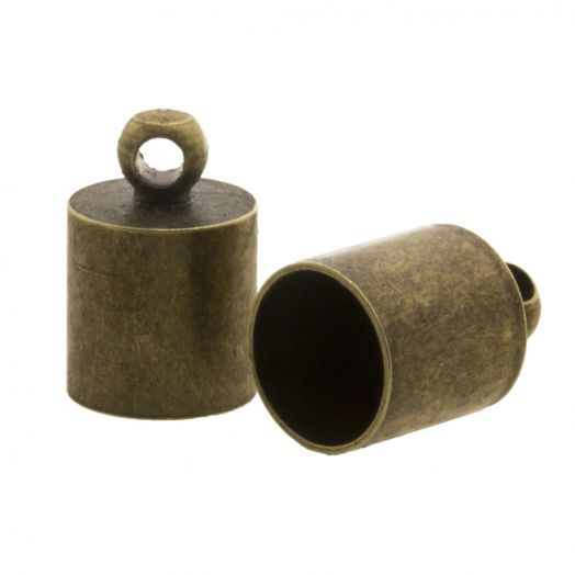 Endkappen (Innenmaß 8.5 mm) Bronze(10 Stück)