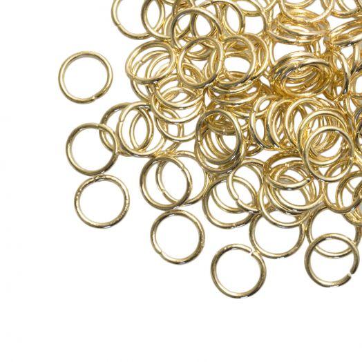 Biegeringe (6 mm) Gold (100 Stück) Dicke 0.8 mm