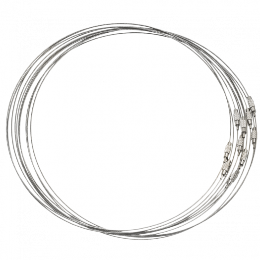 Halskette Drehverschluss (10 Stück) Silber (50 cm)