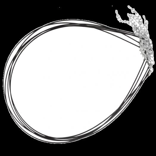 Halskette mit Verlängerungskette (48 cm) Silber (5 Stück)