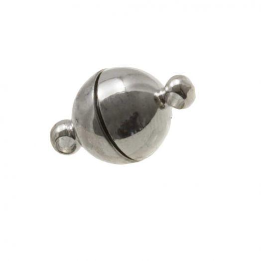 Stainless Steel Magnetverschluss (14 x 10 mm) Altsilber (1 Stück)