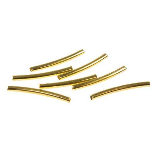 Gedrehte Röhrchen (15 mm) Gold (50 Stück)