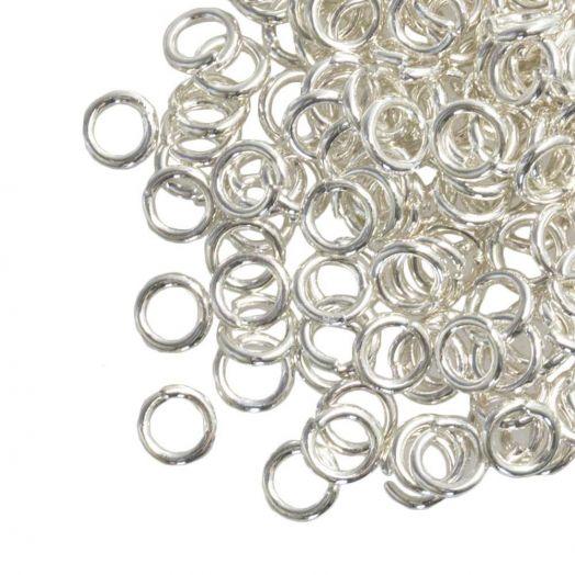 Biegeringe (6 mm / 1.2 mm Dicke) Silber (100 Stück)