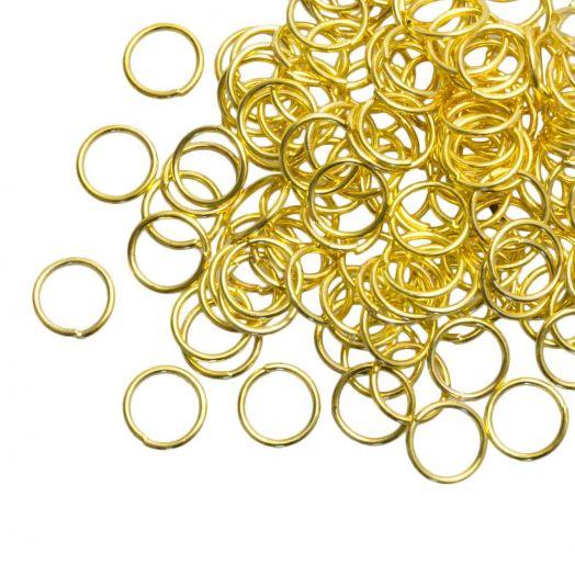 Biegeringe (8 mm) Gold (200 Stück) 0.8 mm