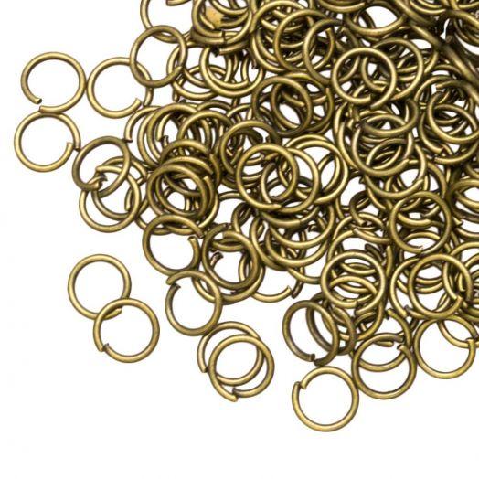Biegeringe (6 mm) Bronze (100 Stück) Dicke 0.8 mm