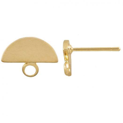 Ohrstecker 10 x 8 mm (6 Stück) Gold
