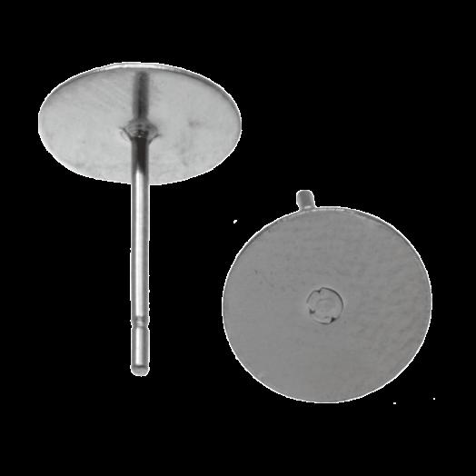 Stainless Steel Ohrstecker 6mm x 0.6 mm (20 Stück) Altsilber