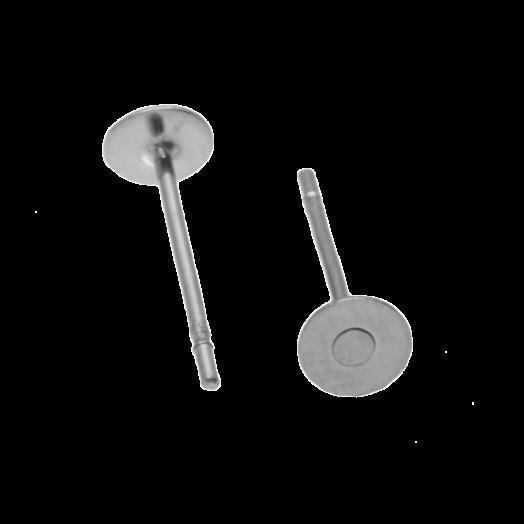 Stainless Steel Ohrstecker 4mm x 0.6 mm (20 Stück) Altsilber
