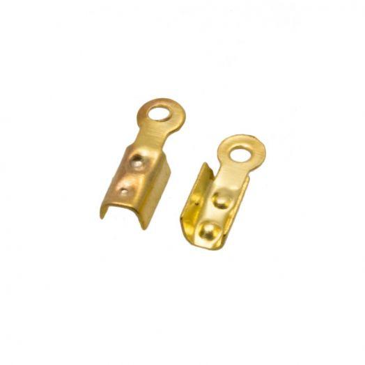 Kordelklemme Vorteilspackung (8 x 2.5 x 2 mm/Loch: 1.5 mm) Gold (500 Stück)