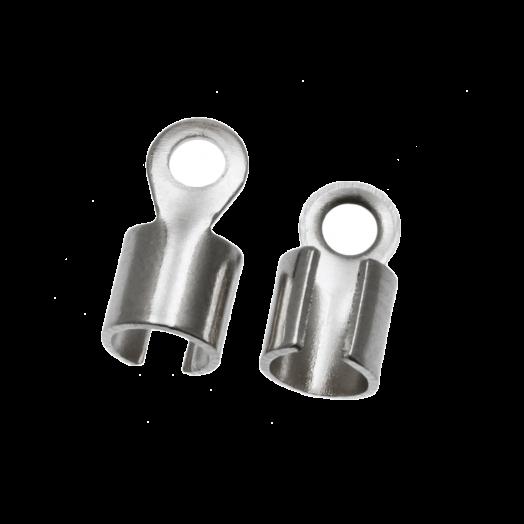 Kordelklemme (10 x 5mm) Altsilber (10 Stück)