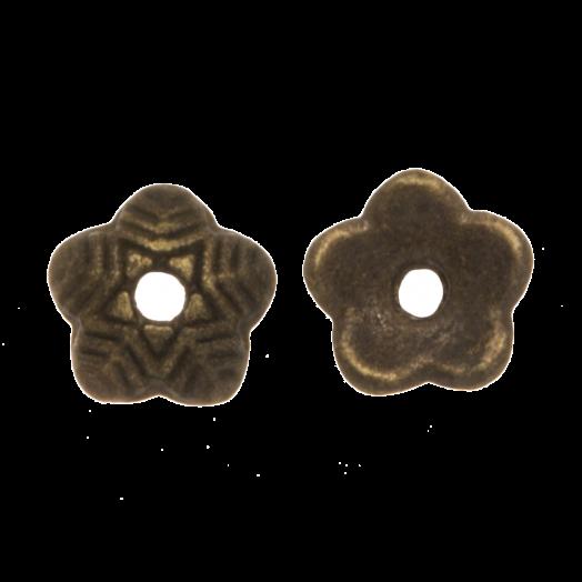 Perlenkappe (6 x 1.5 mm) Bronze (25 Stück)