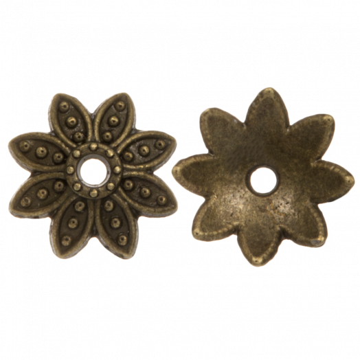 Perlenkappe (9 x 2 mm) Bronze (25 Stück)