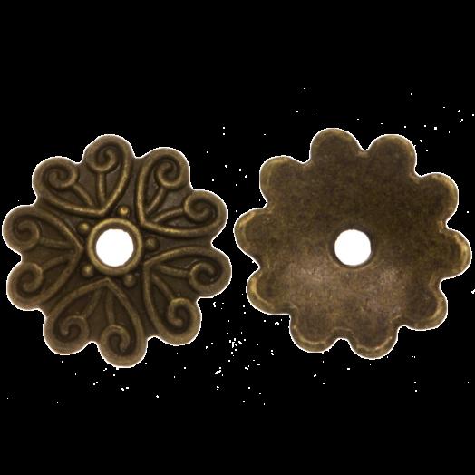 Perlenkappe (11 x 2 mm) Bronze (25 Stück)