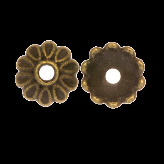 Perlenkappe (8 x 2.5 mm) Bronze (25 Stück)