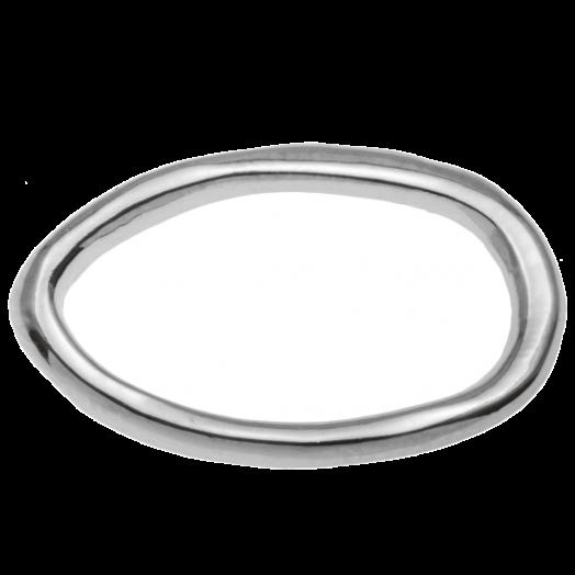 Geschlossener Ring (22 x 14 mm Innenmaß 10 x 18 mm) Altsilber (5 Stück)