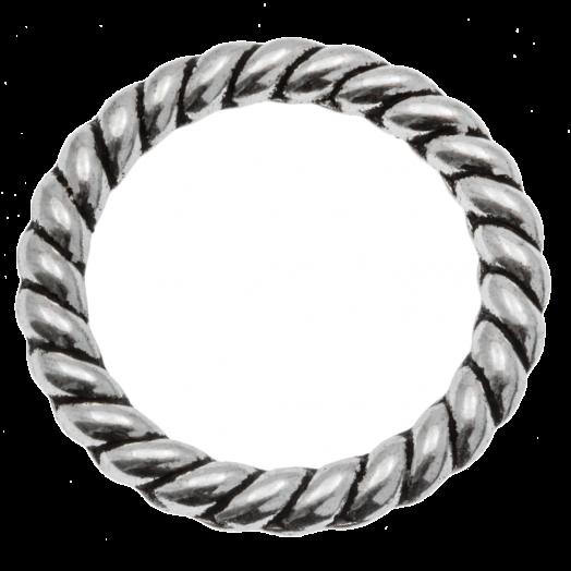 Geschlossener Ring (23 x 2.5 mm Innenmaß 17 mm) Altsilber (10 Stück)