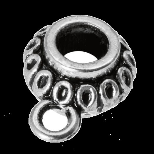 Charmträger (Innenmaß 3.3 mm) Altsilber (10 Stück)