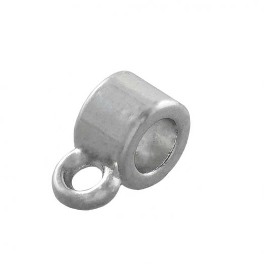 Charmträger (Innenmaß 3 mm) Altsilber (10 Stück)
