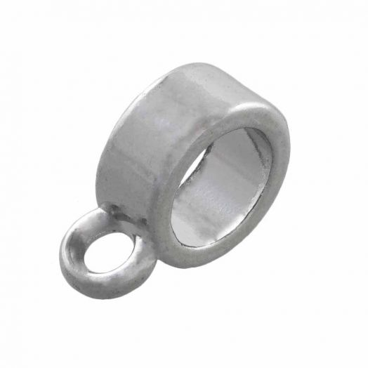 Charmträger (Innenmaß 6 mm) Altsilber (10 Stück)