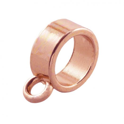 Charmträger (Innenmaß 7 mm) Rose Gold (10 Stück)
