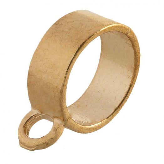 Charmträger (Innenmaß 10 mm) Gold (10 Stück)
