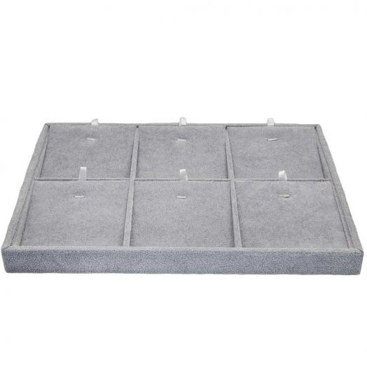 Schmuckdisplay (35 x 24 cm) Velvet Grey (1 Stück)