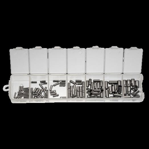 Vorteilset - Stainless Steel Endkappen (1 zu 4 mm) Altsilber (110 Stück)