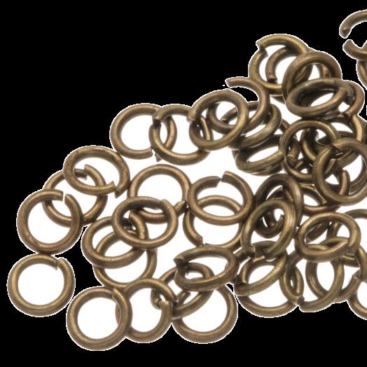 Biegeringe (4 mm) Bronze (100 Stück) Dicke 0,8 mm
