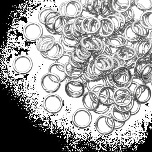 Biegeringe (6 mm) Altsilber (100 Stück) Dicke 1 mm