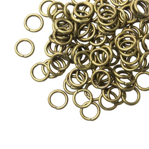Biegeringe (6 mm) Bronze (100 Stück) Dicke 1 mm