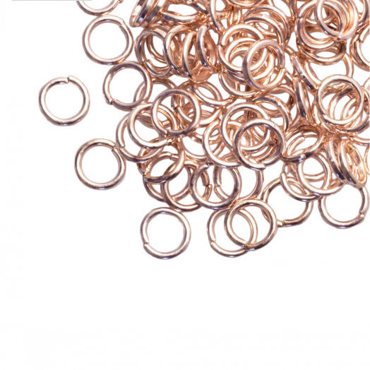 Biegeringe (6 mm) Rose Gold (100 Stück) Dicke 1 mm