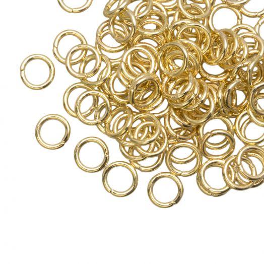 Biegeringe (6 mm) Gold (100 Stück) Dicke 1 mm