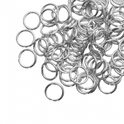Biegeringe (8 mm) Altsilber (100 Stück) Dicke 1 mm