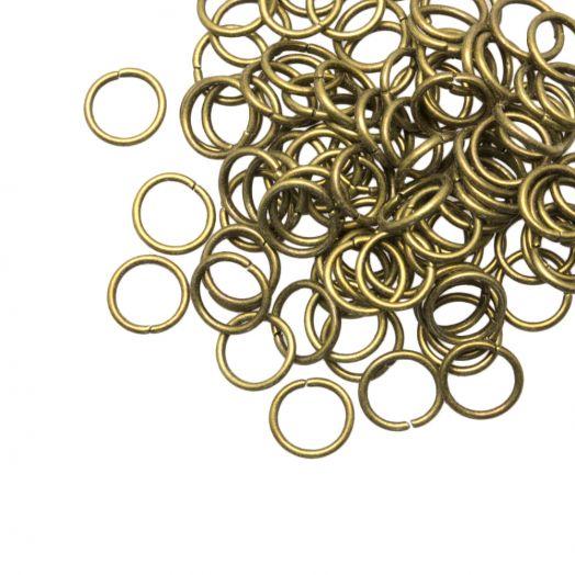 Biegeringe (8 mm) Bronze (100 Stück) Dicke 1 mm
