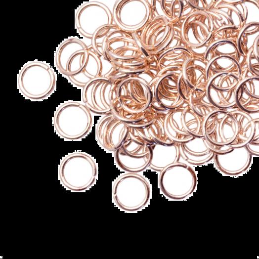 Biegeringe (8 mm) Rose Gold (100 Stück) Dicke 1 mm