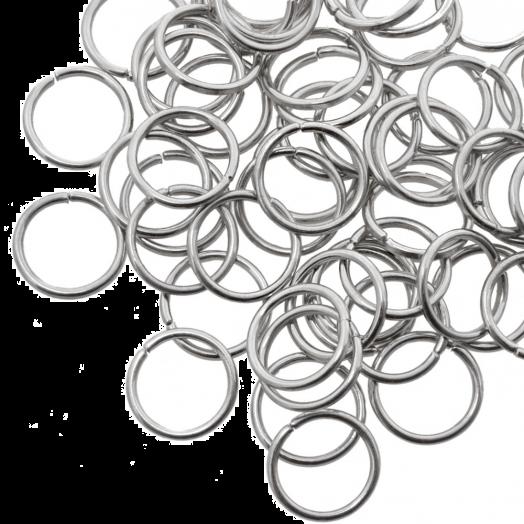 Biegeringe (10 mm) Altsilber (100 Stück) Dicke 1 mm