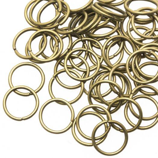 Biegeringe (10 mm) Bronze (100 Stück) Dicke 1 mm