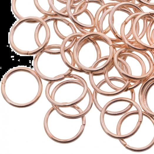 Biegeringe (10 mm) Rose Gold (100 Stück) Dicke 1 mm