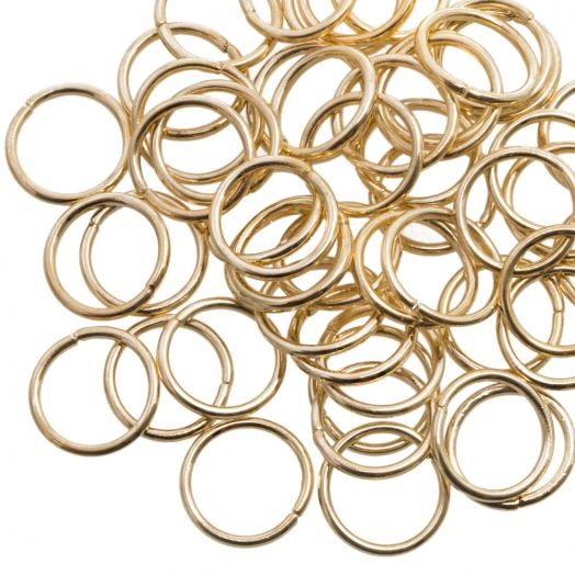 Biegeringe (10 mm) Gold (100 Stück) Dicke 1 mm