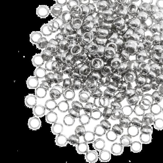 Quetschperlen (Innenmass 1.2 mm) Altsilber (100 Stück)