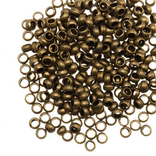 Quetschperlen (Innenmass 1.2 mm) Bronze (100 stück)