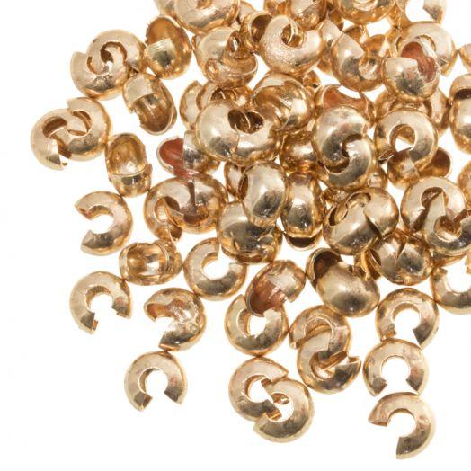 Kaschierperlen (4 mm) Gold (25 Stück)