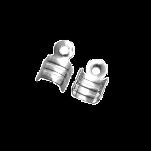 Kordelklemme (für 2 mm leder oder 3 mm Wildlederband) Altsilber (25 Stück)