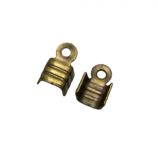 Kordelklemme (für 2 mm leder oder 3 mm Wildlederband) Bronze (25 Stück)