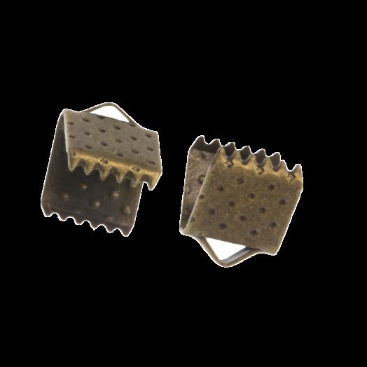 Bandklemme (6 mm) Alt Bronze (20 Stück)