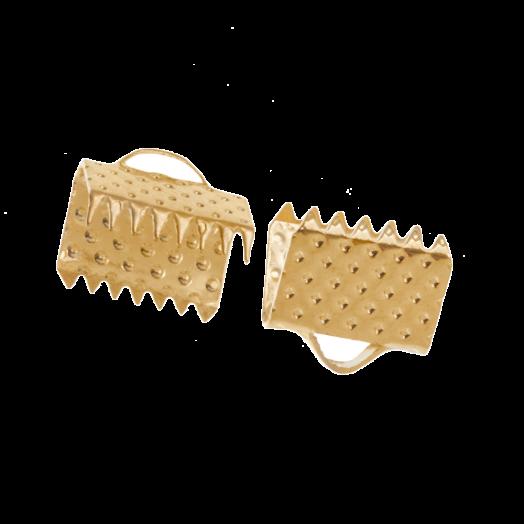 Bandklemme (8 mm) Gold (20 Stück)