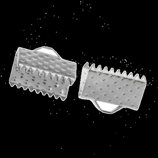 Bandklemme (13 mm) Altsilber (20 Stück)