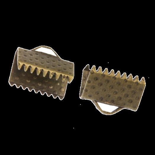 Bandklemme (10 mm) Bronze (20 Stück)